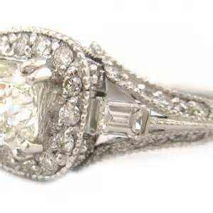 Antique Cushion Cut Engagement Ring Cushion Cut Engagement Ring Antique 1 84ctw 18k