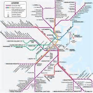 Boston Train Station Map by Commuter Rail Map Boston Maps Boston Pinterest