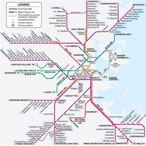 boston mbta map commuter rail map boston maps boston