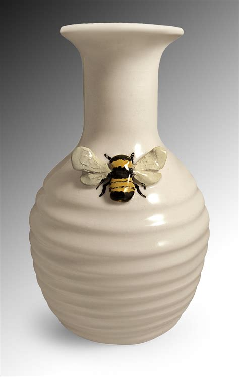 bee vase by scroggins ceramic vase artful home
