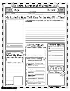 Extra! Extra! Read All About Me! Printables & Template for