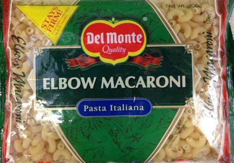 del monte elbow macaroni pasta   buy asian food