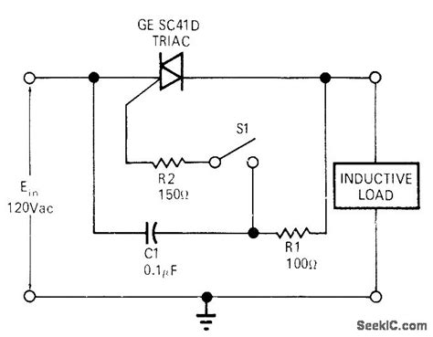 inductive load circuit triac for inductive loads basic circuit circuit diagram seekic