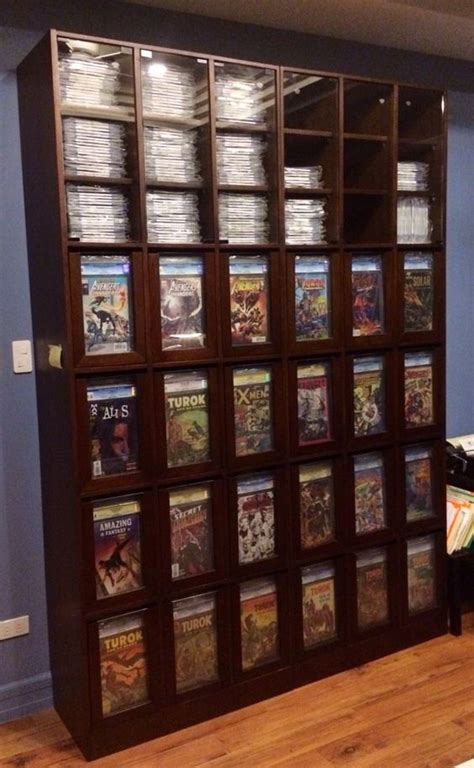 comic book shelves this is a full view of my custom cgc comic storage