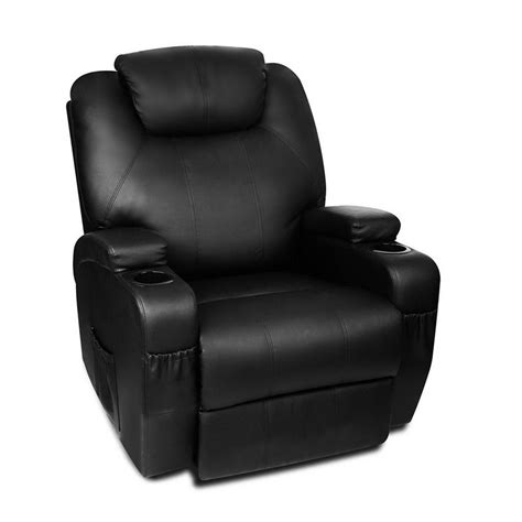 Faux Leather Recliner Chair by Faux Leather Recliner Chair W Remote Black Buy