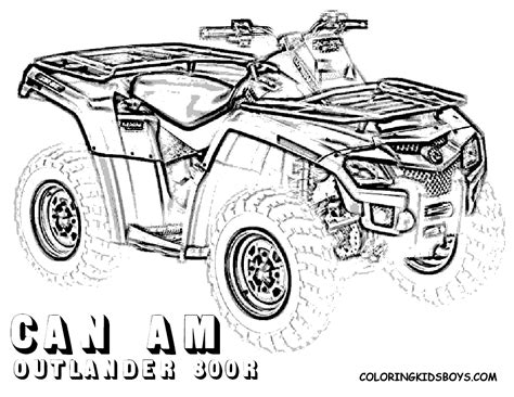 Four Wheeler Coloring Pages Of Can Am Outlander 800r At Coloring Pages Four Wheeler