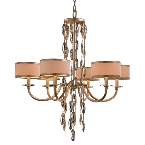 White And Gold Chandelier Keyes Regency White Gold Waterfall Chandelier 6