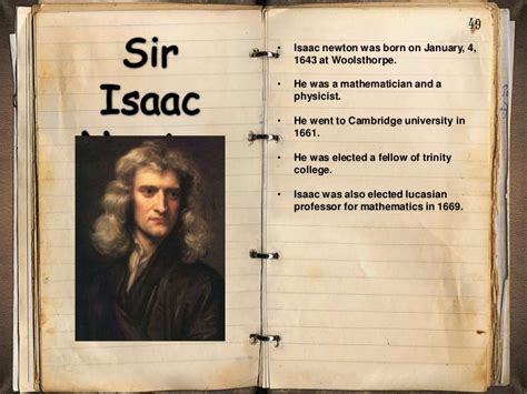 biography of isaac newton ppt sir issac newton by ayden cole and conrad