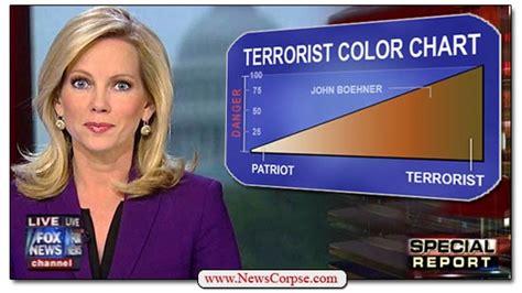 fox news islamic terrorism not just a threat it is a reality the handy dandy fox news terrorist color chart news corpse