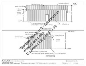 Free Pole Barn Plans Blueprints by Lean To Shed 10 X 24 Shed Plans