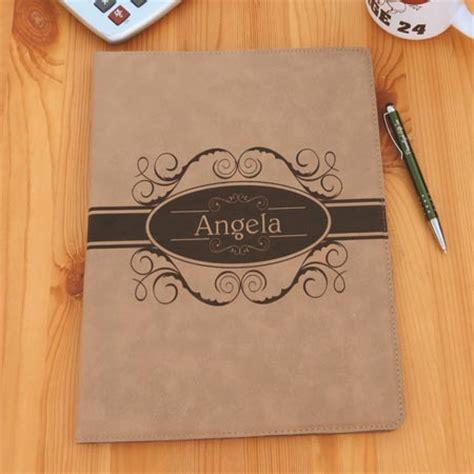 Custom Leatherette Portfolio Folder Custom Portfolio With Your Name Or Initials Soft