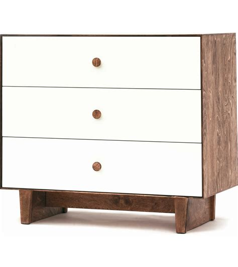 white three drawer dresser oeuf merlin 3 drawer dresser rhea base walnut white