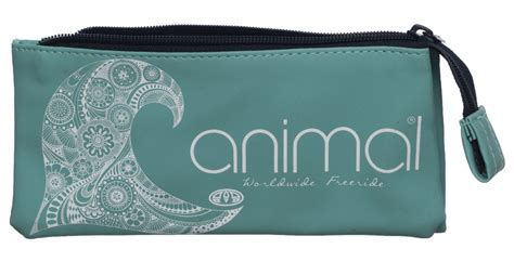 three section pencil case animal teal pencil case 3 compartments with middle zipped