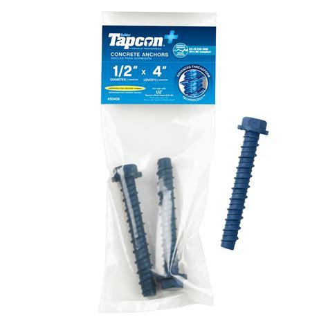 tapcon flat masonry concrete anchors anchors