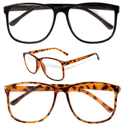 large oversized vintage glasses reading clear lens thin