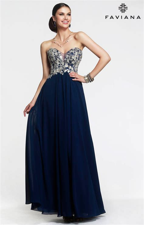 faviana    exception dress prom dress