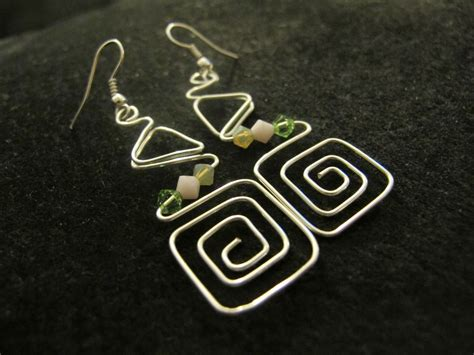 Handmade Wire Earrings Designs - s designs handmade wire jewelry funky silver wire