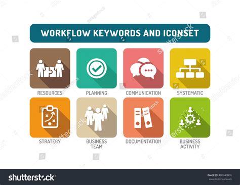 icon design workflow workflow flat icon set stock vector 400843036 shutterstock