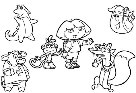 printable coloring pages dora and friends into the city