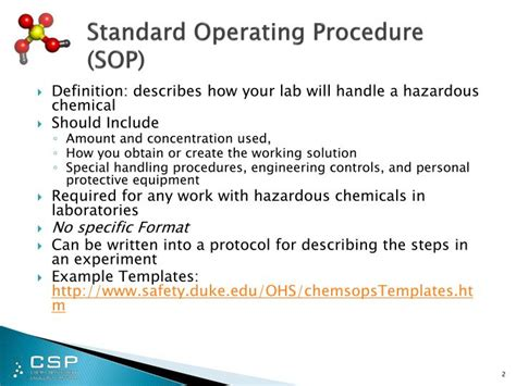 Ppt Chemical Safety Security Standard Operating Procedures Powerpoint Presentation Id 1984002 Sop Powerpoint Template