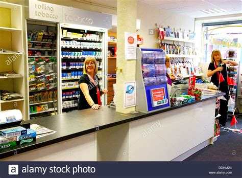 Countertops Stores by Shop Counter And Staff In Post Office Stock Photo Royalty