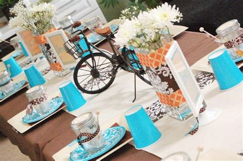 bridal shower photo centerpieces 2 quot bicycle built for two quot bridal shower guest feature celebrations at home