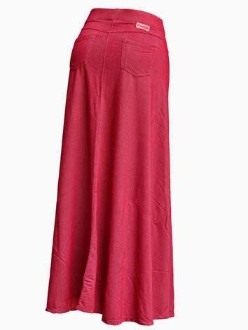 Maxi Shinta Tosca nqc store rok panjang payung denim dua