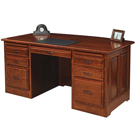 Classic Executive Desk by Liberty Classic Executive Amish Desk Amish Furniture
