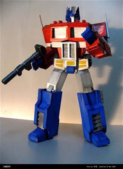 Transformers Papercraft Optimus Prime - transformers papercraft optimus prime free papercrafts