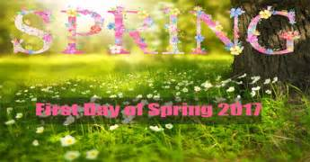 Spring Start by First Day Of Spring 2017 Aoparho