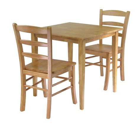 winsome groveland 3pc dining set square table with 2