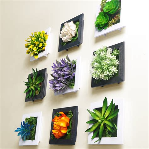 Hiasan Dinding Wall Decor 20x20 rustic 3d plastic wall mural creative single pack small plants wall decorative hangings free