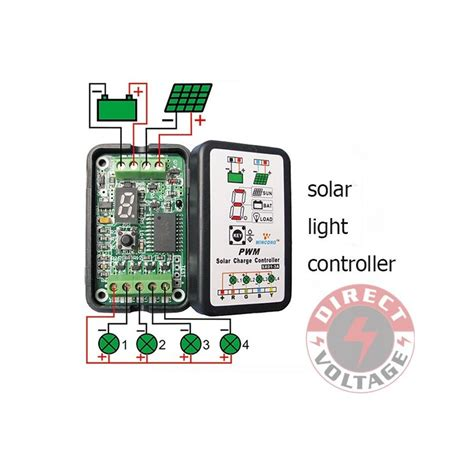 Solar Light Controller 3a 6v 12v Pwm Solar Panel Light Controller Battery Charge