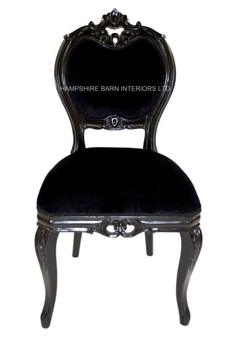 black chair for bedroom french chateau noir style ornate chair black velvet