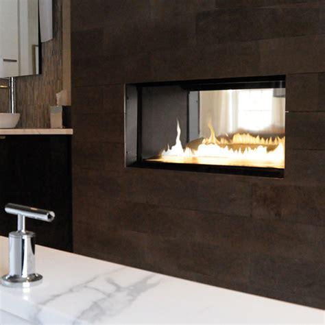 direct vent modern fireplace ribbon vent free vu thru spark modern fires