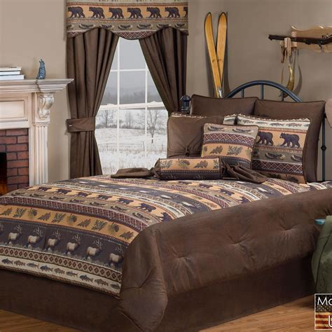 rustic comforters luxury pine cone bedding cabin place