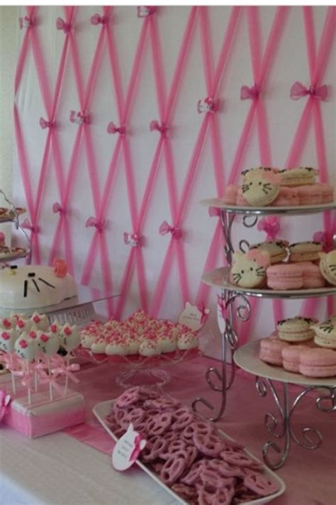 Baby Shower Backdrop by Up On Pink Tulle Backdrop For Hello Baby