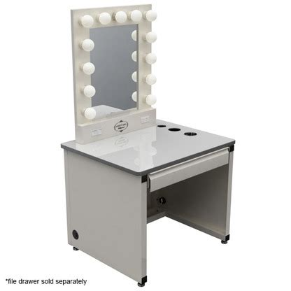 makeup desk with lighted mirror broadway lighted vanity makeup desk by vanity