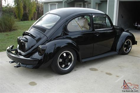 black volkswagen bug 1974 vw bug black volkswagen beetle narrowed beam