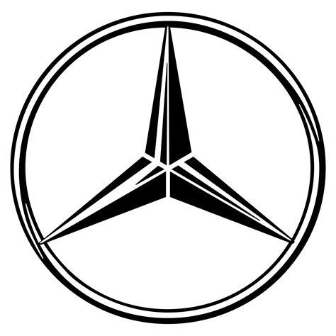 mercedes logo black and white mercedes logo png transparent svg vector freebie supply