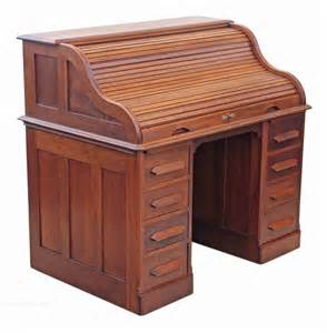 american walnut large roll top desk writing table