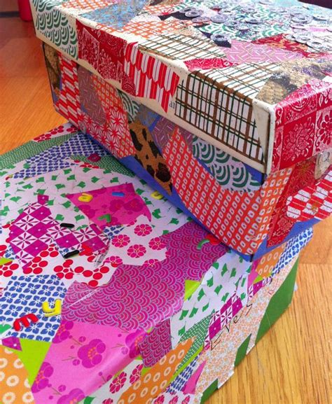 decorated shoe boxes organization shoes