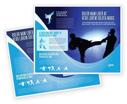 martial art brochure template design and layout download