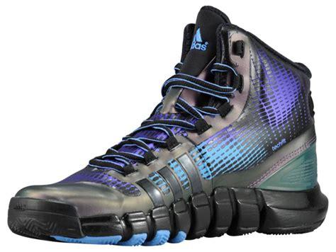 top fashion adidas adipure crazyquick mens black blast purple pink basketball shoes v14189
