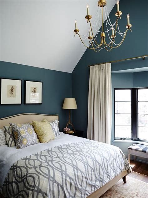 blue paint for bedroom houzz teal wall paint bedroom home design ideas pictures