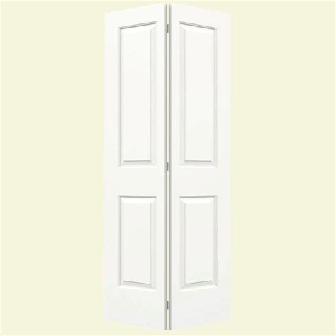 42 Bi Fold Closet Door Jeld Wen 36 In X 80 In Cambridge White Painted Smooth Molded Composite Mdf Closet Bi Fold Door