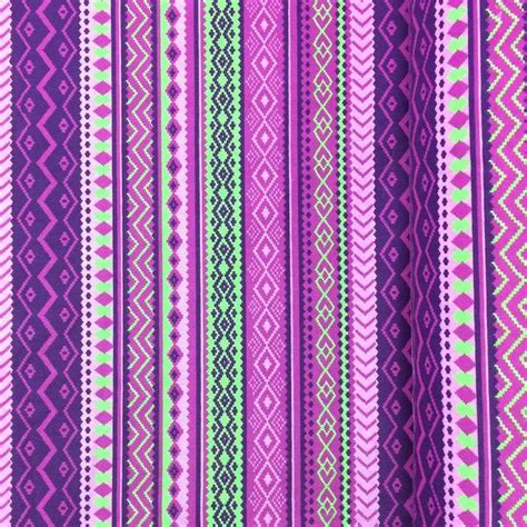 Purple Aztec purple aztec print fabric cotton broadcloth 2 99 yard