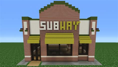 how to build a building minecraft tutorial how to make a subway restaurant