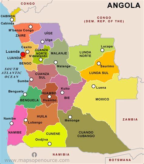 angola map angola country profile free maps of angola open source maps of angola facts about angola