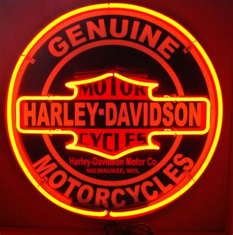 harley davidson lighted signs 24 inch harley davidson double neon